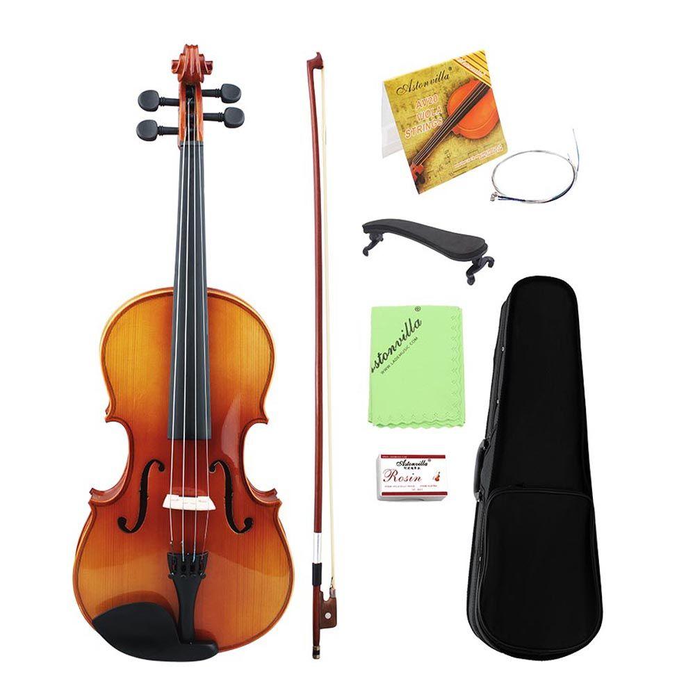 Neue 16 Inch Volle Größe Natürliche Akustische Violine Geige Violino Mit Fall Stumm Bogen Saiten 4-String Instrument Für anfänger