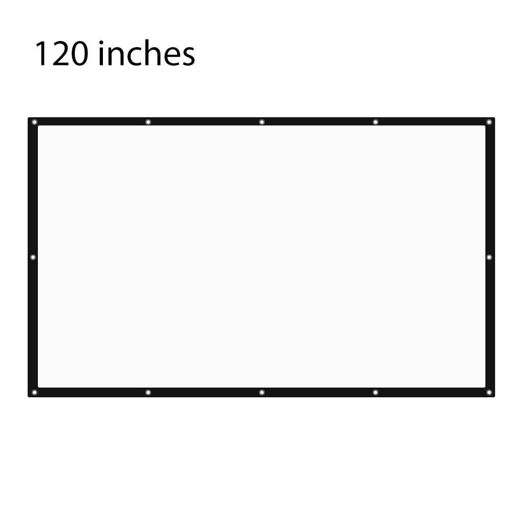 120 Inch 16:9 Portable Tabletop Projector Screen with eyelets with Frame For UC46 XGIMI JMGO BenQ LG Sony Home Theater Porjector