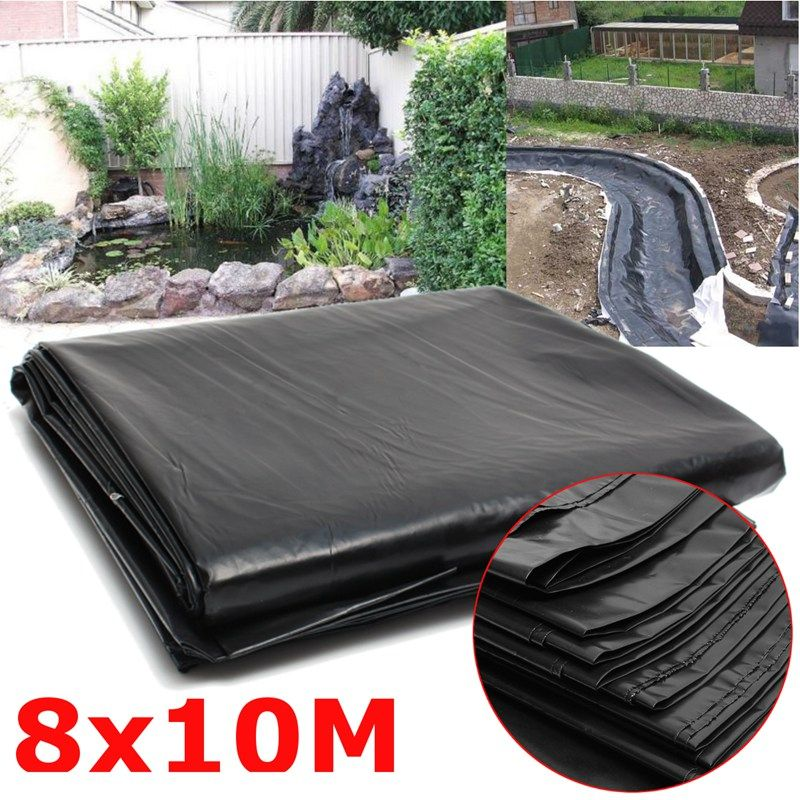 Overvalue 8*10m Large Fish Pond Liner Garden Pools Reinforced HDPE Heavy Duty Landscaping Pool Pond Waterproof Liner Cloth