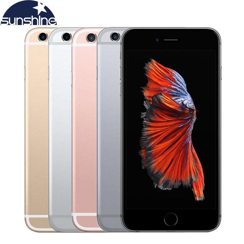 Téléphone portable d'origine débloqué Apple iPhone 6S 4G LTE 2GB RAM 16/64GB ROM 4.7 ''12.0MP double cœur IOS 9 téléphone portable