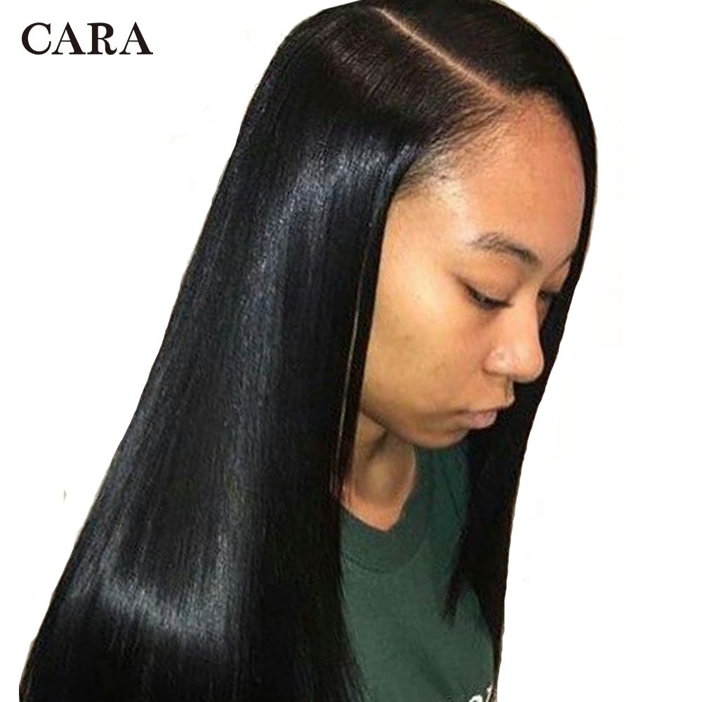 250 Density Lace Front Human Hair Wigs 13x6 Brazilian Straight Lace Front Wig Pre Plucked Lace Front Wig Deep Part CARA Non-Remy