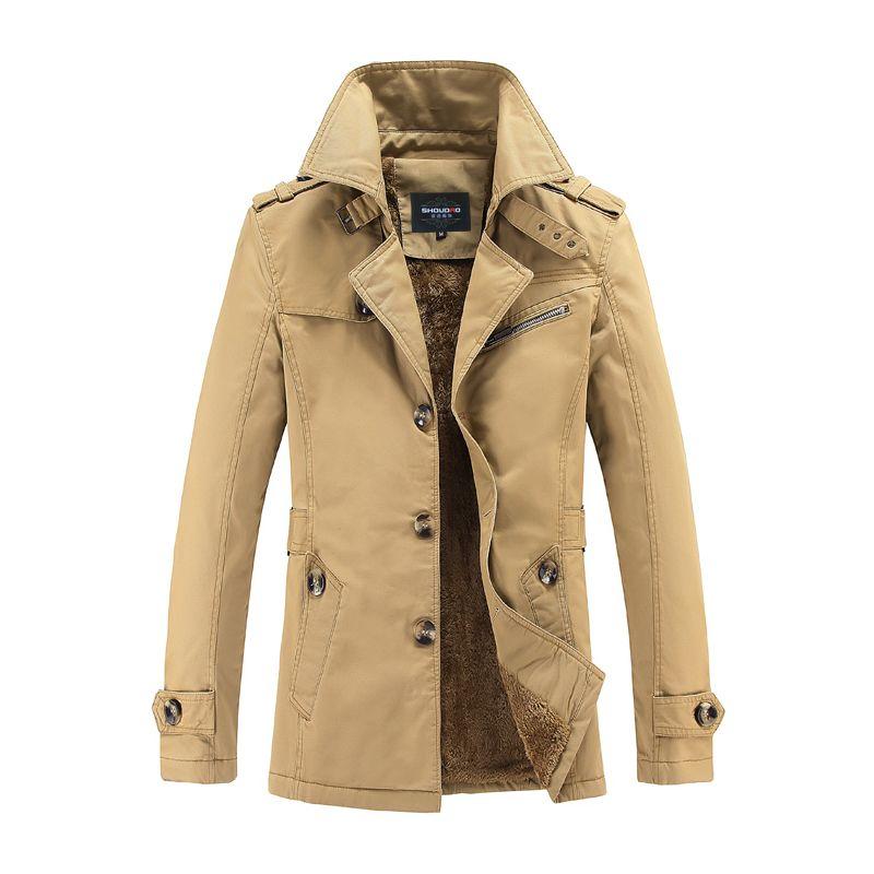 Windjacken für verdickte erwärmung Winter kleidung mode lässig jacken für männer langen mantel größe Hohe Qualität Gent Leben