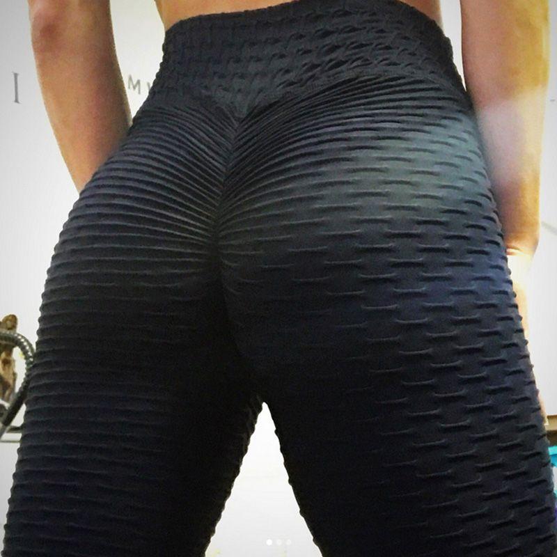 2019 nouveau Leggings de Style bosses mis hanche pli élastique taille haute Legging respirant Slim pantalon