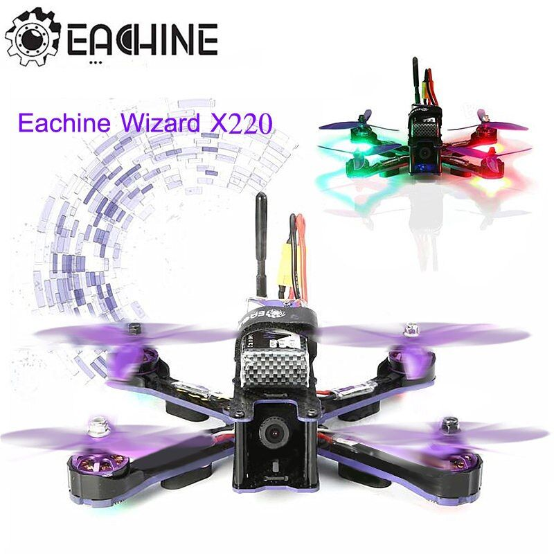 Eachine Wizard X220 FPV Racing Drone Blheli_S F3 6DOF 2205 2300KV Motors 5.8G 48CH 200MW VTX LED RC Quadcopter ARF VS X220S