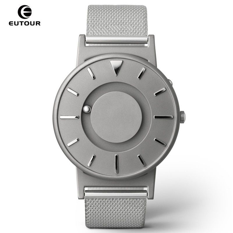 EUTOUR Men Watch Magnetic Ball Show Stainless Steel Men Watches For Blind Person Mens Wrist Watches Luxury relogio masculino