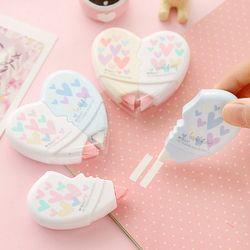 2 unids/par 10 m amor corazón cinta correctora plástico Kawaii Creative papelería Corrector estudiantes regalos oficina y suministros de la escuela