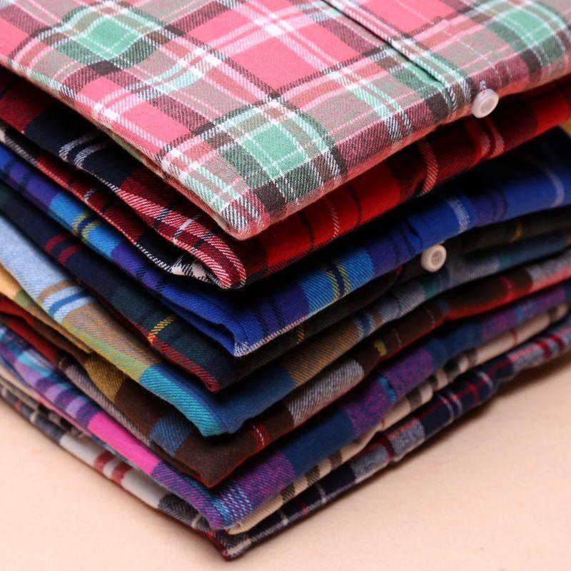 Chemises pour femmes 2018 automne et hiver femme chemise à carreaux femmes slim manches longues coton Blouse top vêtements de dessus pour femmes