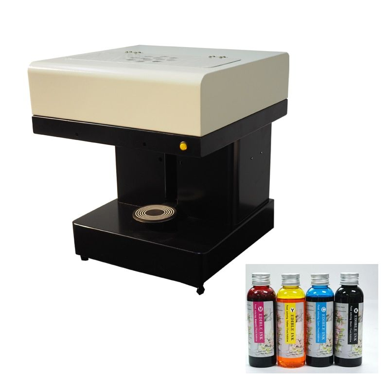 Automatic Selfie Foam milk Coffee printing machine present 4*100ml ink Best after-service available