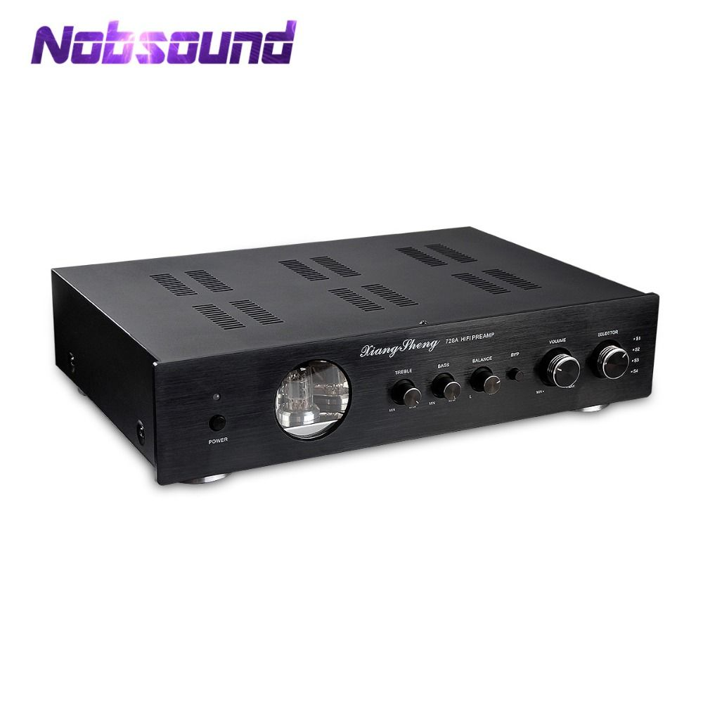 Nobsound Latest High End XiangSheng 728A Vacuum 12AT7 12AU7 Tube Pre-Amplifier Stereo HiFi Preamp Audio Processor