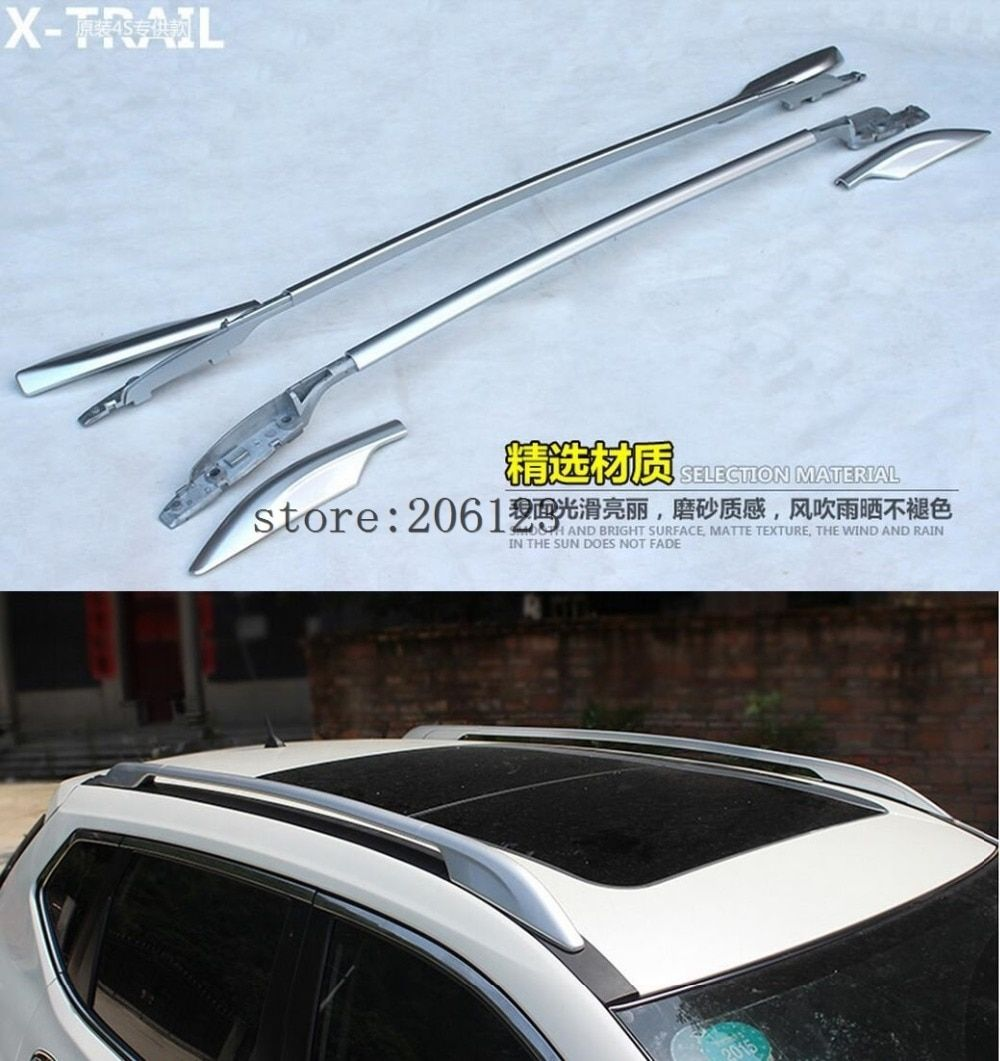 Roof Rack side Rails luggage carrier bars For Nissan Rogue x trail 2014 2015 2016 2017