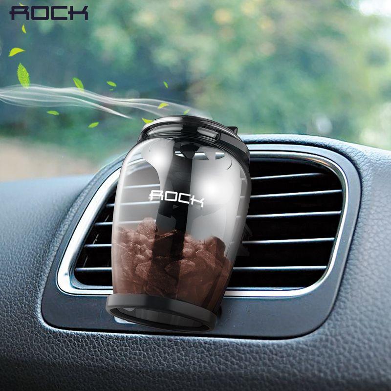 ROCK Aromatherapy Car Holder Universal Aroma Car Air Vent Air Freshener Car Holder <font><b>Luxury</b></font> Natural Zeolite Fragrance Car Holder