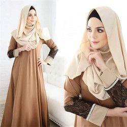 Женская мода Абая, головной платок мусульманская одежда коктейльное кружевное платье макси халат femme musulman традиционный арабский одежда