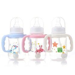 150 Ml Bayi Baru Lahir Perawatan Bayi Botol Makan Susu Standar Mulut Silikon Puting Dot Minum Jus Buah Obat Air