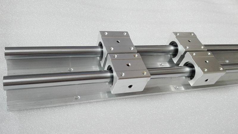 12 мм линейный рельс 2 шт. SBR12 600 мм сторонником rails + 4 шт. SBR12UU блоки для ЧПУ, линейных поддержки вала рельсов и подшипников блоки