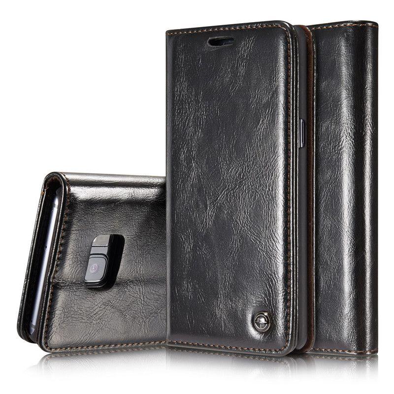Coque de luxe pour couverture Flip pour Samsung S sac de série véritable portefeuille en cuir véritable Caseme marque Coque de téléphone pour Note5 S7edge Retro