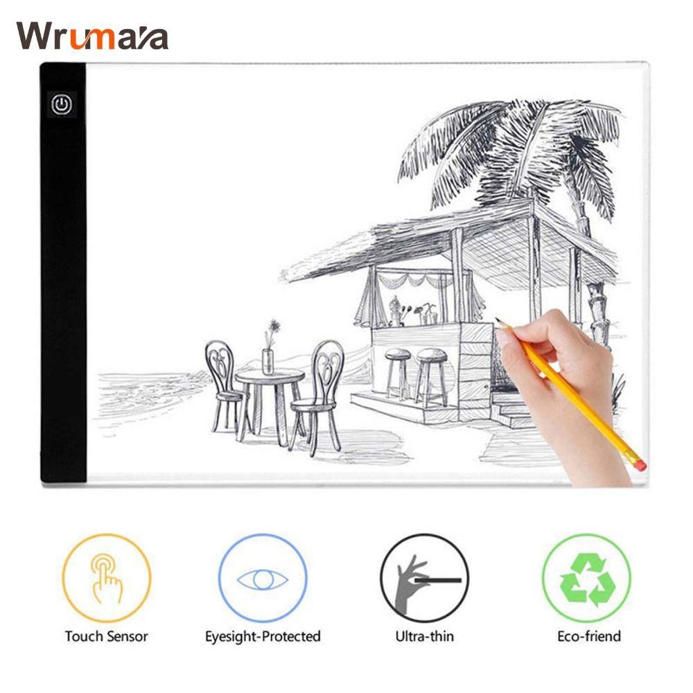 Wrumava ultradünne A4 FÜHRTE Schreiben Malerei Licht Box Tracing Bord Kopie Pad Zeichnung Digitale Tablet Artcraft Kopie Tisch Led-platine