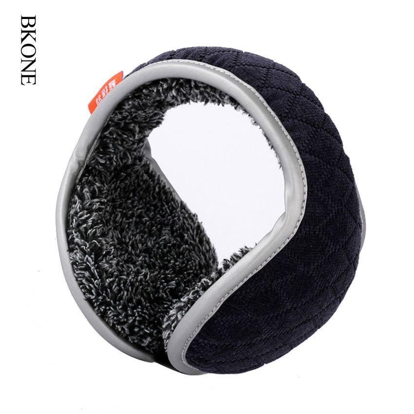 BKONE Winter Earmuffs Men Foldable Ear Muffs Back Wear Velvet Ear Warmers Warm Plush Earflap Adjustable Ear Cover Earbag