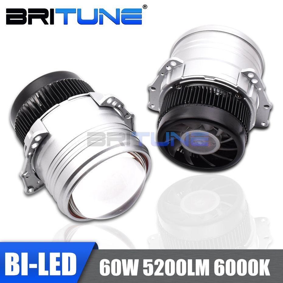 BI-LED Objektiv I5 60 W Projektor Linsen Led-lampen Für Auto Autos Scheinwerfer 3,0 ''6000 K Hallo/ lo Strahl Kit Tuning Zubehör Stil
