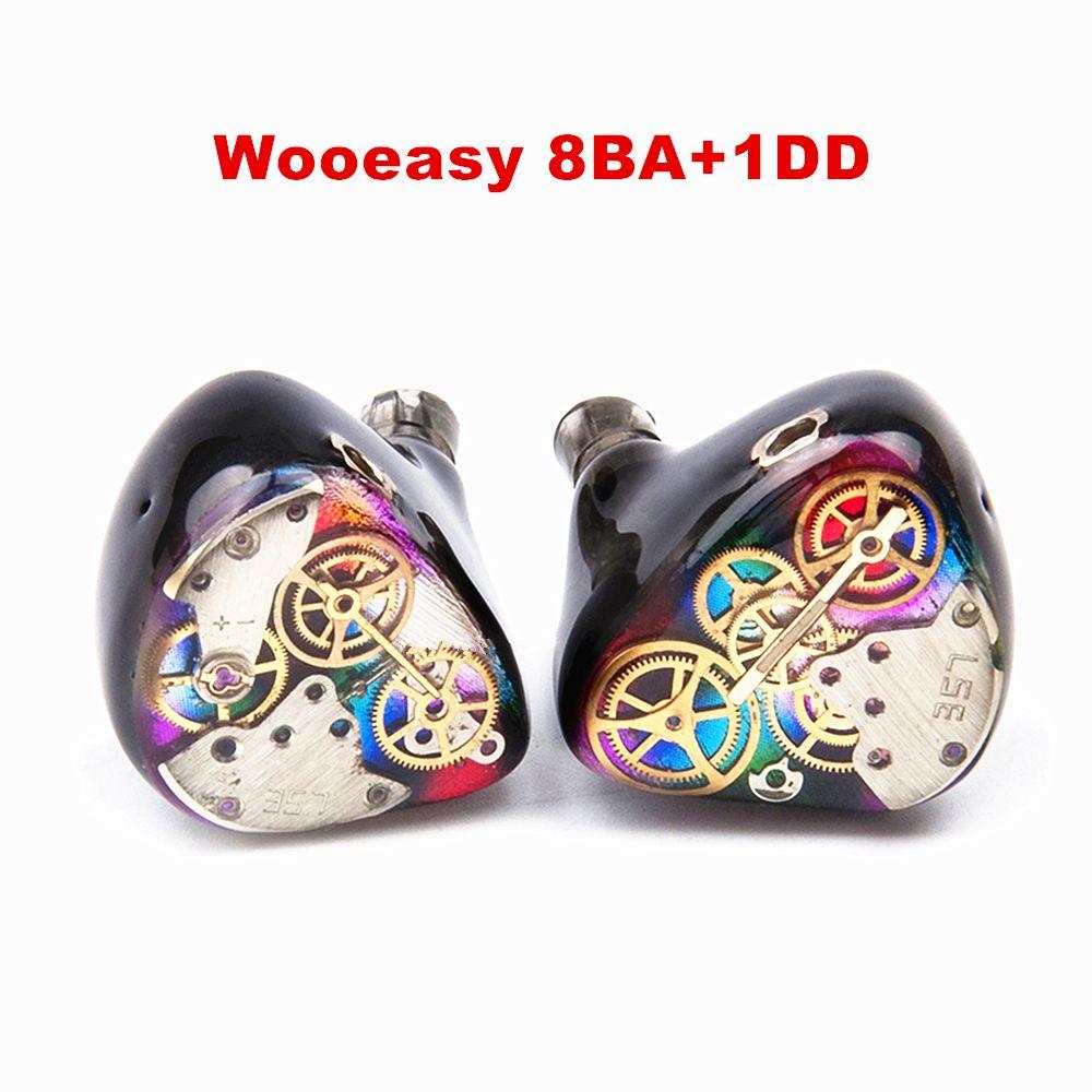 2017 Wooeasy 8BA+1DD In Ear Earphone Drive Unit DIY HIFI Custom Made Monitoring Earphone With MMCX Interface