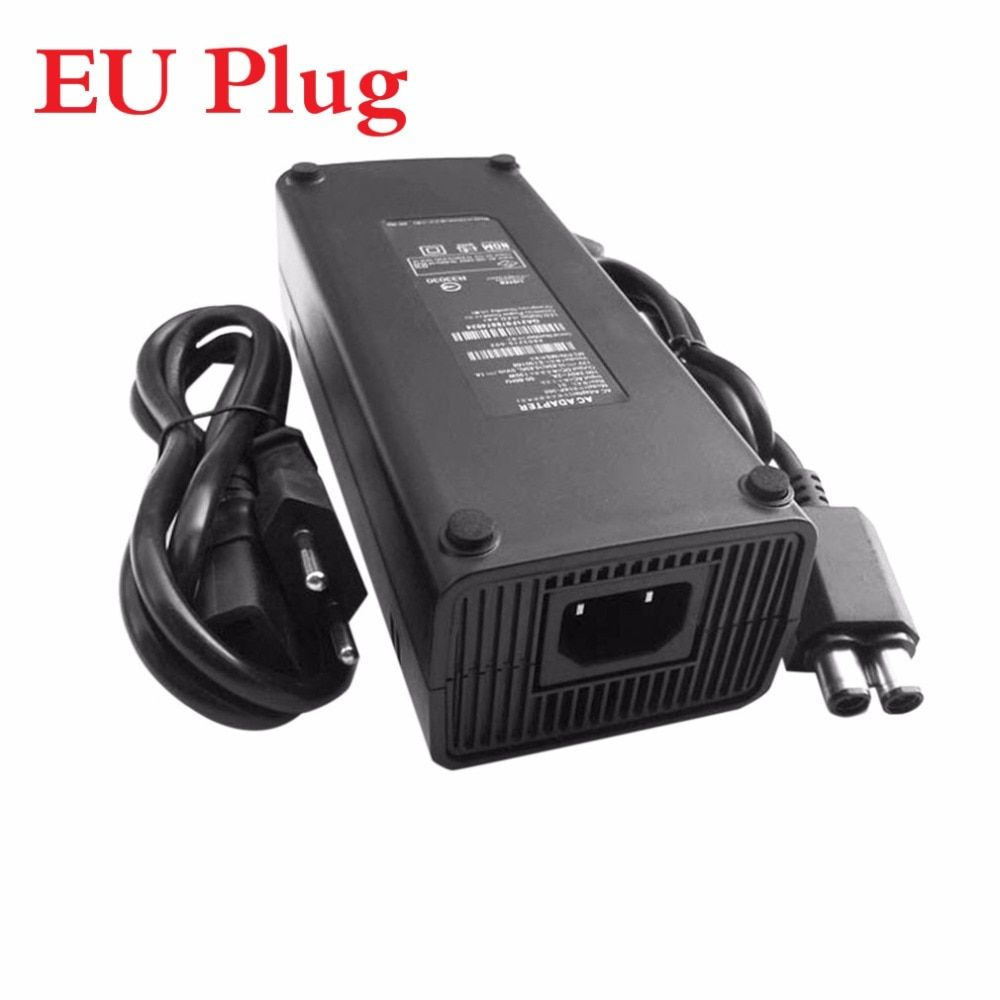 AC 100-240V Adapter Power Supply Charger Cable for X-BOX 360 Slim Ideal Replacement Charger With LED Indicator Light EU Plug