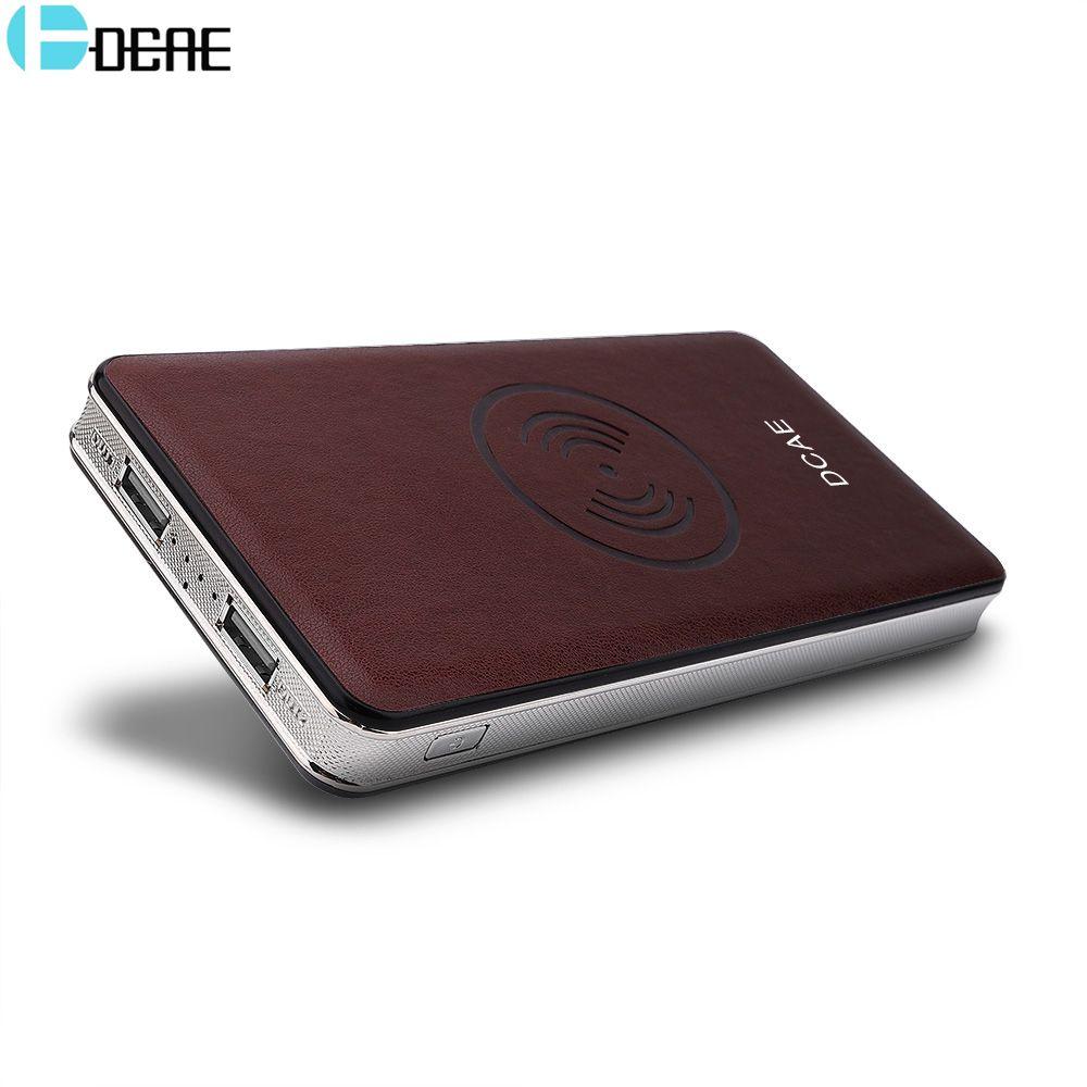 DCAE chargeur sans fil pour iPhone XS Max XR X 8 Plus batterie externe 10000 mAh double USB rapide QI sans fil chargeur pour Samsung S9 S8