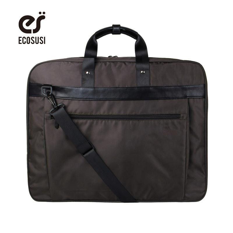 Ecosusi nuevo traje cubierta ligera de nylon negro de negocios vestido bolsa de ropa impermeable traje de los hombres traje de viaje