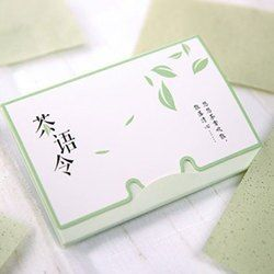 100 листов/обновления тканей Бумага s Зелёный чай запах для снятия макияжа Нефтепоглощающих лицо Бумага поглощают впитывающий для лица очища...