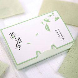 100 feuilles/pack De Papiers Tissu Vert Thé Odeur Maquillage Nettoyage Absorbant L'huile Visage Papier Absorber Buvard Facial Nettoyant Visage outil