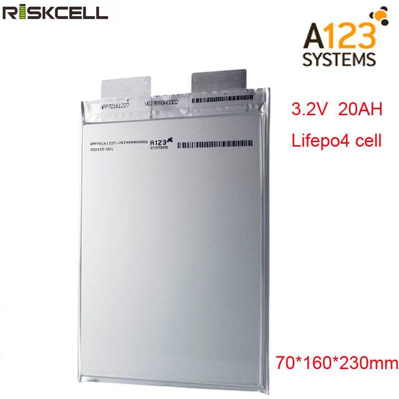 Keine steuern Original A123 20Ah 3,2 V lifepo4 li-polymer akku A123 20000mAh 3,2 V batterie für ebike, ev, auto, ups