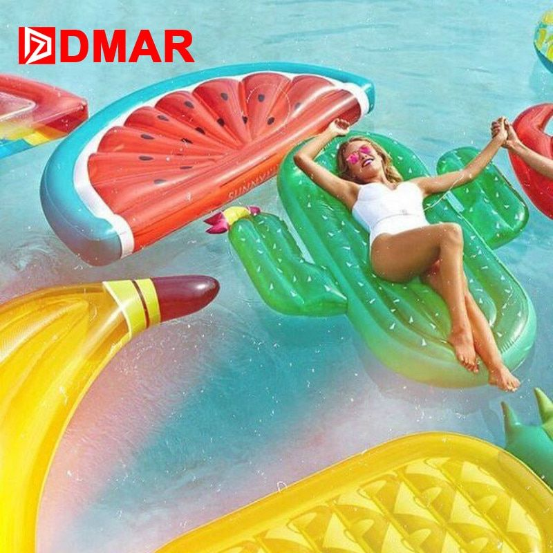 DMAR 185 cm gonflable géant piscine flotteur matelas jouets pastèque ananas Cactus plage eau natation anneau bouée de sauvetage mer fête