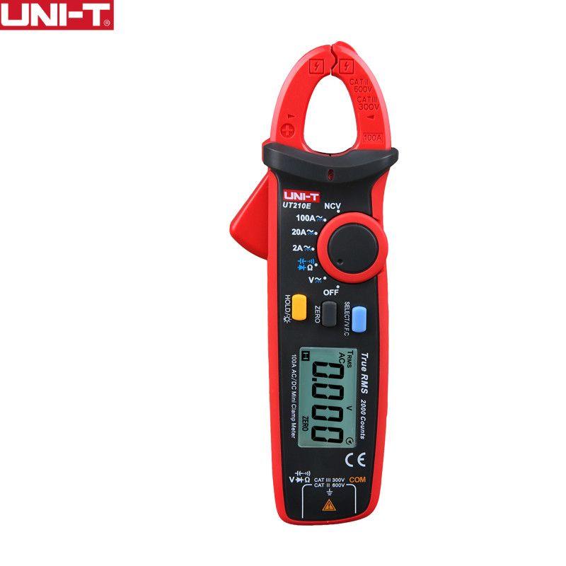 UNI-T UNI T UT210E True RMS Mini Digital Clamp Meters AC/DC Current Voltage Auto Range VFC Capacitance Non Contact Multimeter