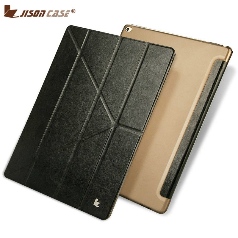 Jisoncase PU Leder Fall für iPad Pro 12,9 Flip Fall Transformatoren Luxus Tablet Smart Cover für iPad Pro 12,9 zoll auto Wake