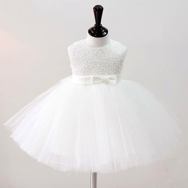 Baby Girl Christening Gowns Baby Girl Wedding Dress Princess Hand Beading Party Dress Tutu Dress Infant Girl Baptism Dress 2017
