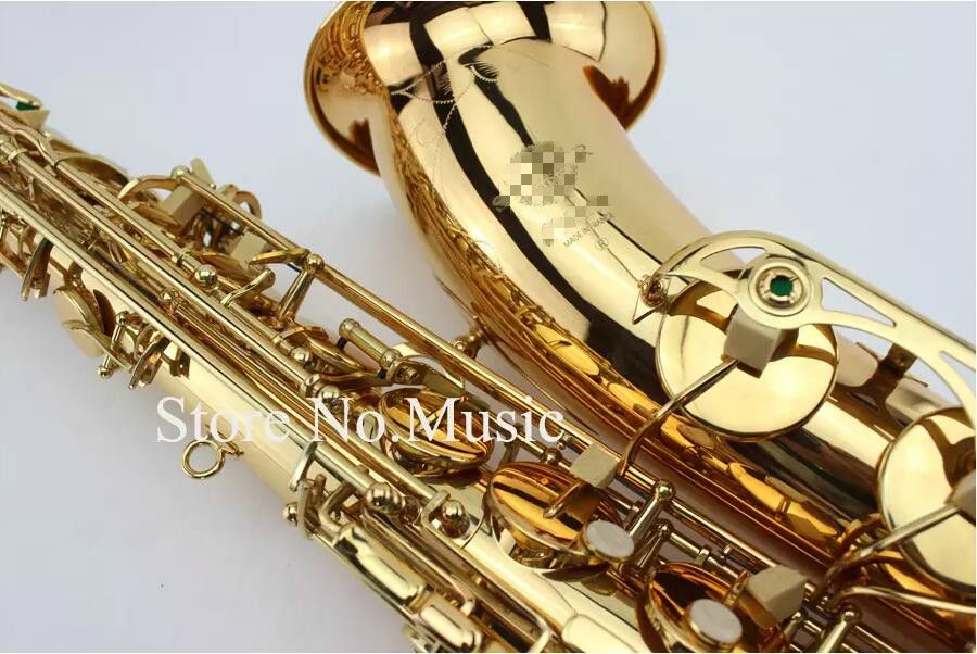 Mark VI Tenor Bb B-flat Saxophone High Quality Instrument Dedicated Brass Gold Lacquer Surface Sax With Case Mouthpiece