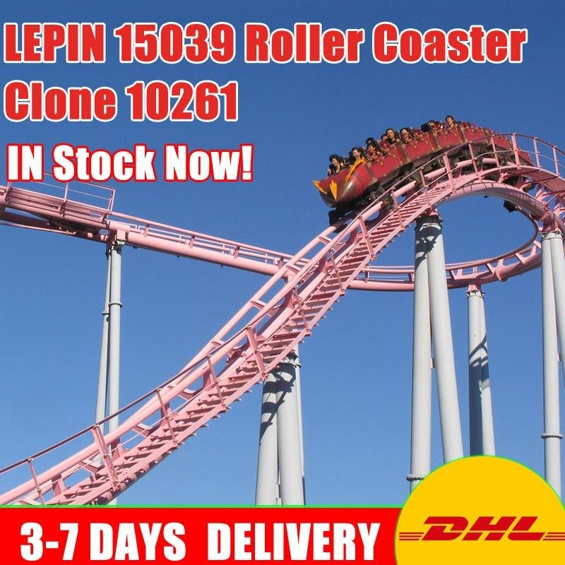 Moc 10261 Lepin 15039 4619Pcs Building The Roller Coaster Set Buidling Blocks Bricks New Kids Toys Collectable Toy Gift Model