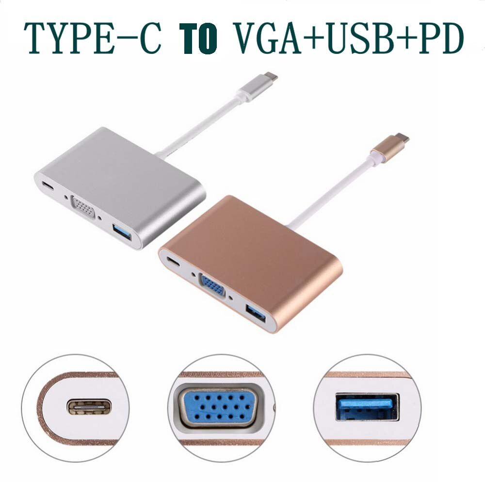 USB3.1 Type-c to VGA USB converter projector video connection line