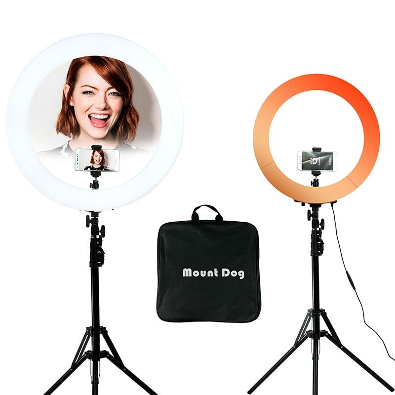 YouTube Photography Ring Light Led phone light photo stand Ring selfie light Ring Lamp With 200CM Tripod photo studio softbox