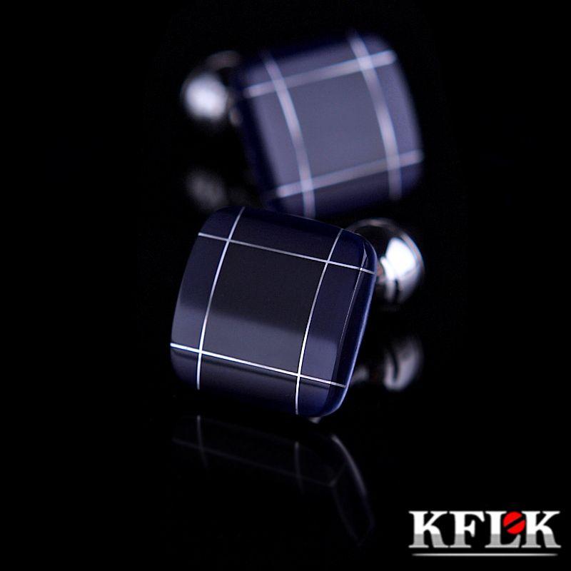 KFLK bijoux de mode chemise boutons de manchette pour hommes cadeau Marque manchette liens boutons Bleu Haute Qualité abotoaduras gemelos Livraison Gratuite