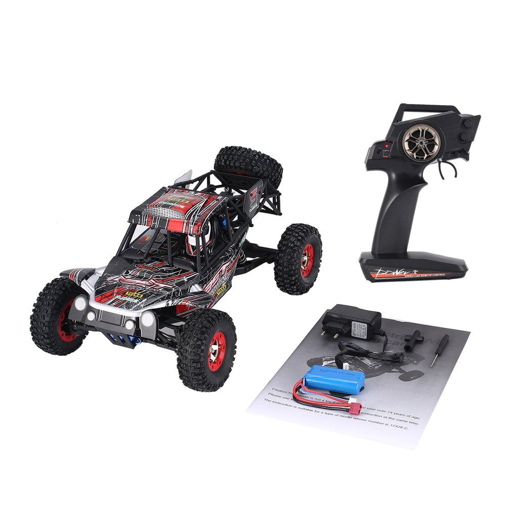 Wltoys 12428-C 1/12 Scale 4WD 2.4Ghz 50km/h High Speed RC Crawler Climbing Off-Road Rock Electric RC Remote Control Car RTR Kids