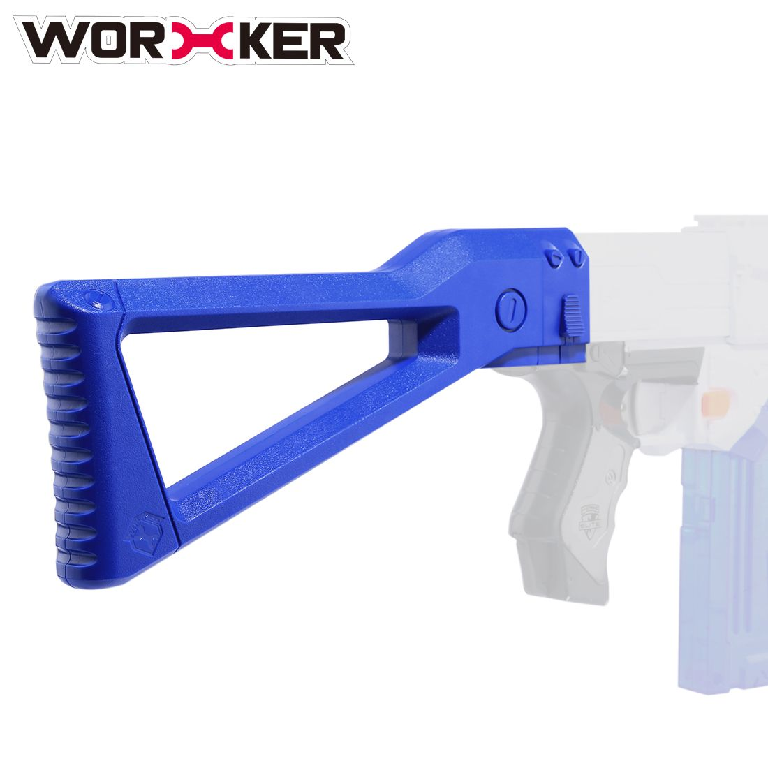 Worker AK Mold ABS Shoulder Tail Stock Buttstock Toy Accessories for Nerf Toy Gun - Transparent