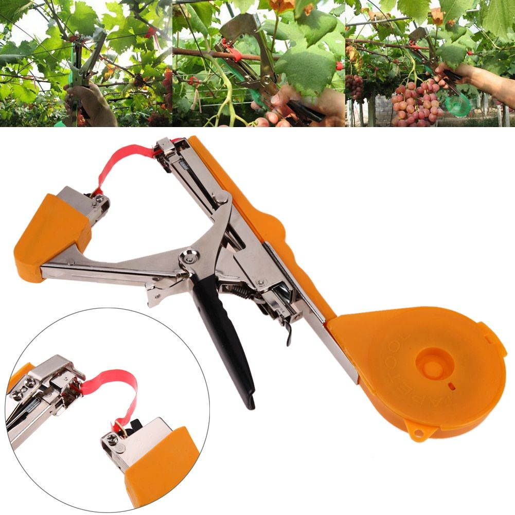 High Quality Plant Bind Branch Hand Tying Binding Machine Garden Tools Tapetool Tapener Stem Strapping Grape Binding <font><b>Tape</b></font> Tool