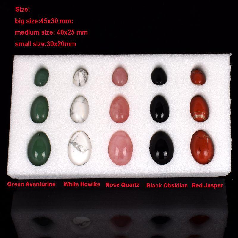 Wholesale Natural Stone 45x30mm Yoni Egg for Women Kegel Exercise Tightening Vaginal Muscle Ben Wa Ball