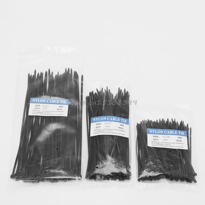 250 Stücke Nylon Kabel selbstsichernde Kunststoff Draht Kabelbinder Set 3*100 3*150 4*200 MRO & Industrielle Versorgungs Fasteners & Hardware Kabel G