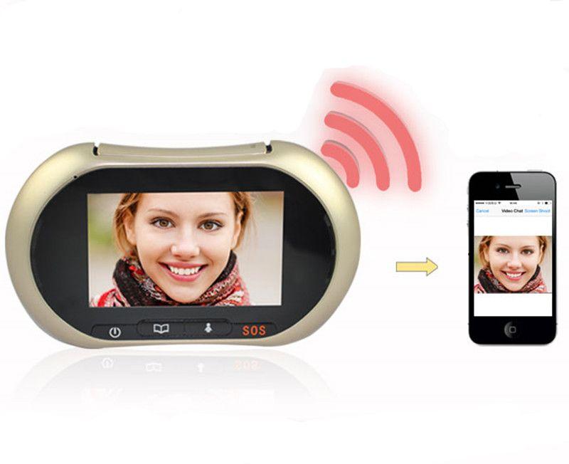 3.7 Inch WIFI Video Doorbell Intercom System Peephole Viewer