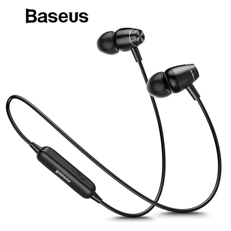 Baseus S09 Bluetooth Earphone IPX5 Waterproof Wireless Headphone Magnet Earbuds Stereo Auriculares Bluetooth Earpiece for Phone