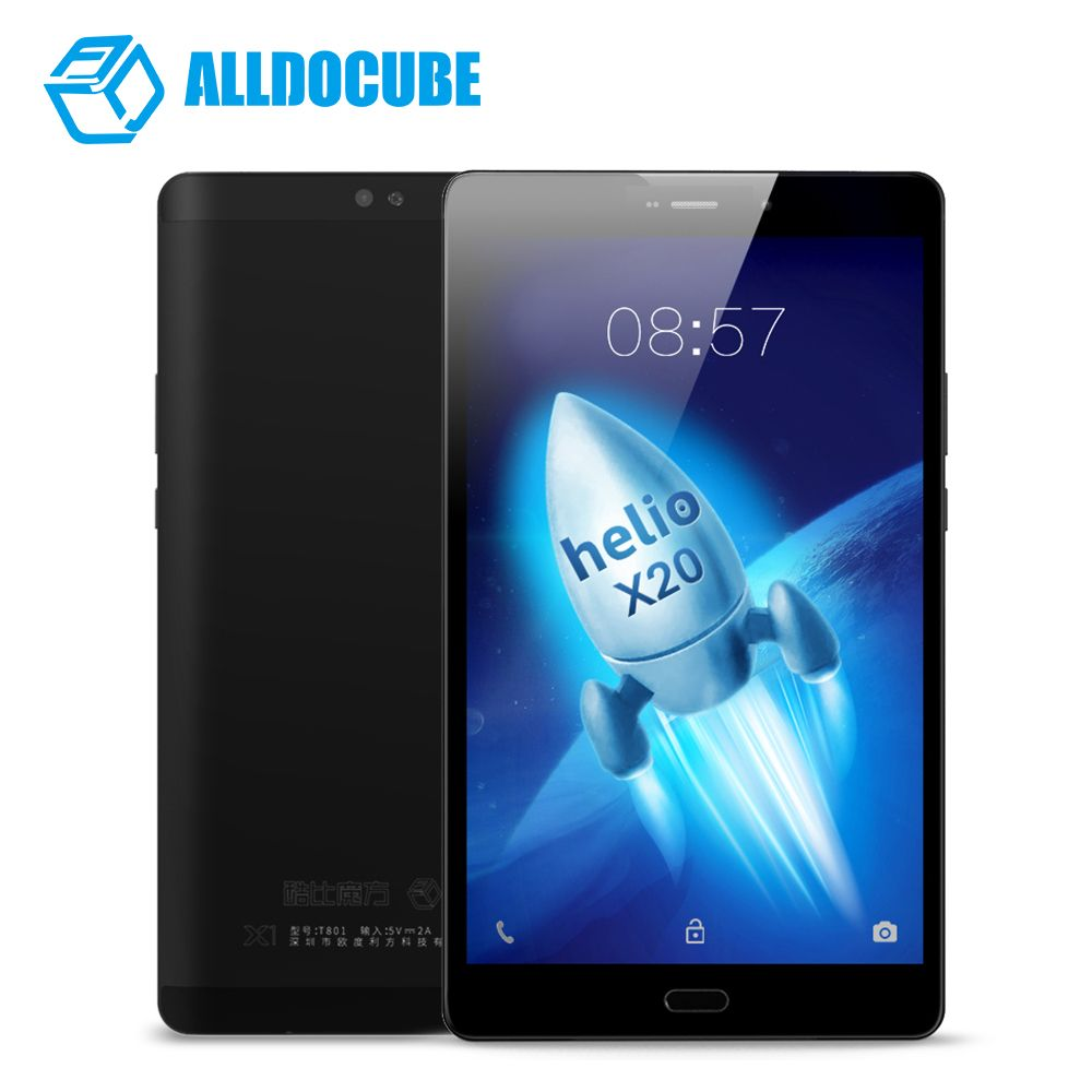 8.4 Inch 1600*2560 ALLDOCUBE X1 Tablets 4G Phone Call Tablet PC MTK X20 Deca core Android 7.1 4GB RAM 64GB ROM 13MP