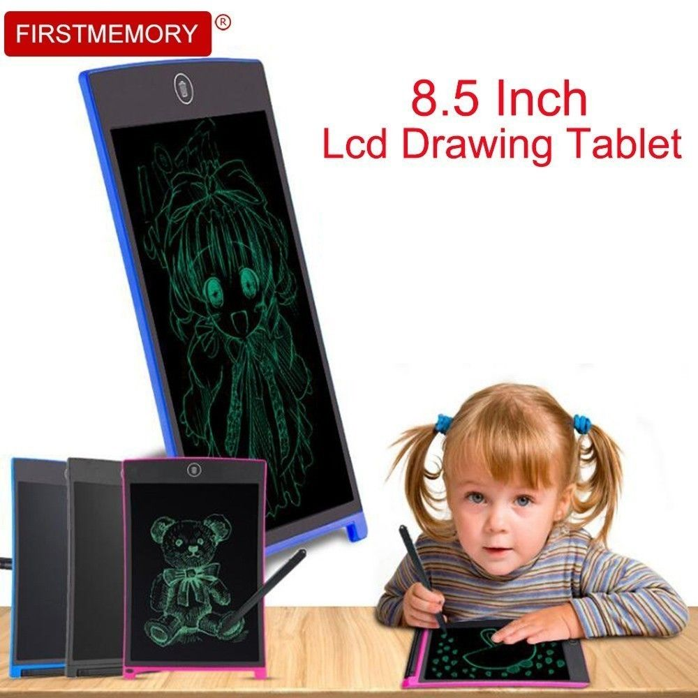Firstmemory 8.5 Inch LCD Drawing Tablet Digital Graphics Handwriting Board Portable Electronic Writing Sketch Pad Memo Board Kid