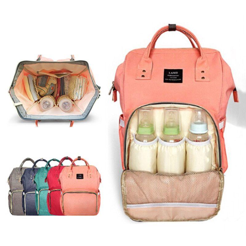 Land пеленки мешок Мама для беременных подгузник сумки большой емкости для путешествия рюкзак дизайнерские уход мешок Baby Care для папы и мама ^