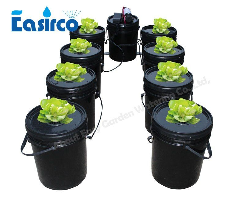 9 eimer Komplette aeroponics system mit cloner eimer, soilless kultur