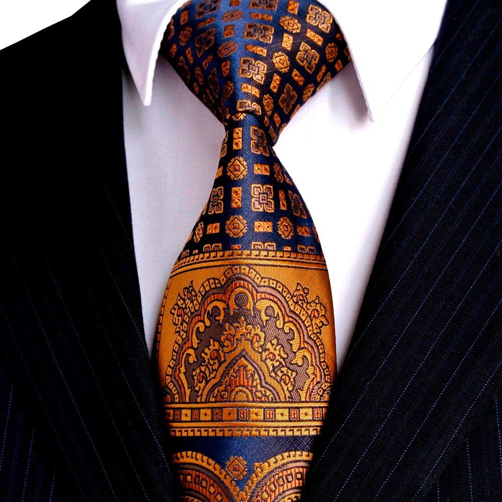 Multicolore marron or jaune bleu marine rose blanc Beige Floral hommes cravates cravate 100% soie cravate ensemble Hanky livraison gratuite en gros